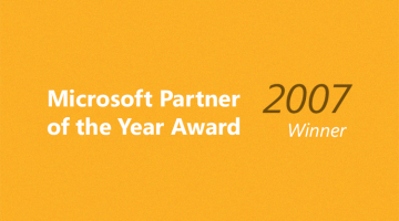 Partner of the Year for Custom Development Solutions 2007