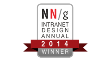 Nielsen Norman Award for best intranets 2014