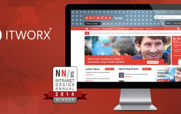 Ooredoo Group Intranet, buzz, developed in partnership with ITWORX, among the World's best 10 Intranets in 2014 by Nielsen Norman Group