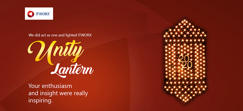 Employees did act as one and lighted ITWORX Unity Lantern thoughout the month of Ramadan